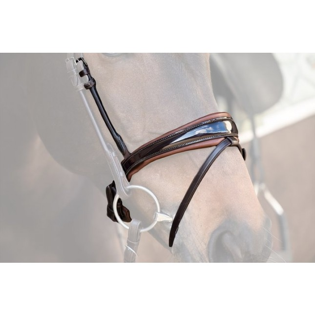 PS of Sweden Noseband GP, brown / lacquered