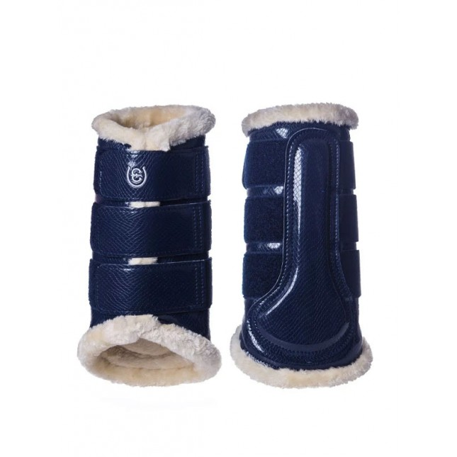 Equestrian Stockholm Brushing Boots Navy