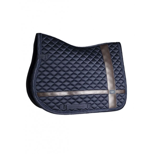 Equestrian Stockholm Jump Saddle pad Leather Deluxe Silver Pony