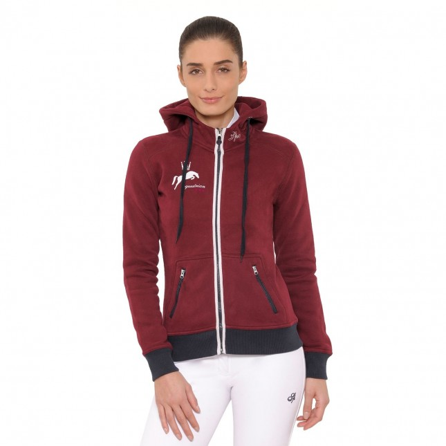 Anne Hooded Jacket - Bordeaux