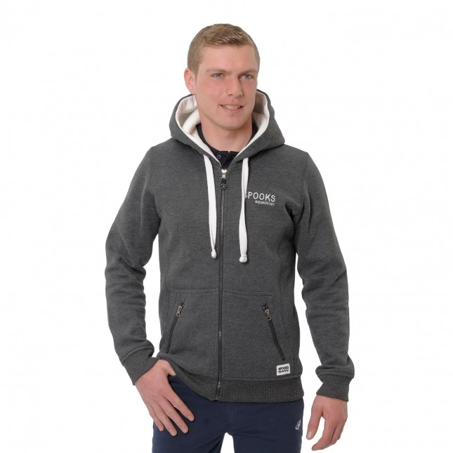 Sven Men's Hooded Jacket - Dark Grey