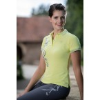 Ladies Polo Shirt Limoni Silver Print