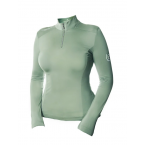 Equestrian Stockholm UV Protection Top Pistachio White