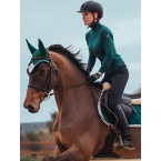 Equestrian Stockholm Knitted Polo Top Amazonite