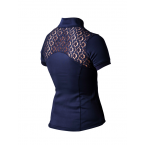 Equestrian Stockholm Training Top Champion Navy Short Sleeve