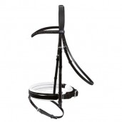 Passier Apollo Snaffle Bridle - Black/White Patent