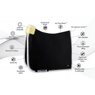 PS of Sweden Dressage saddle pad, Black, PRO, COB