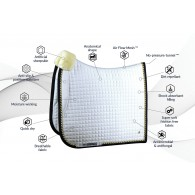 PS of Sweden Dressage saddle pad, White/Navy, PRO, COB
