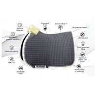 PS of Sweden Jump Saddle Pad, Grey, PRO, COB
