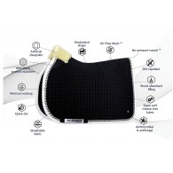 PS of Sweden Jump Saddle Pad, Black, PRO, COB