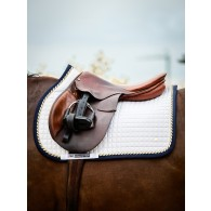 PS of Sweden Jump Saddle Pad, White/Navy, COB
