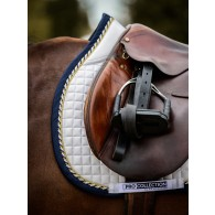 PS of Sweden Jump Saddle Pad, White/Navy, FULL