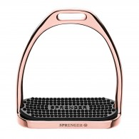 Sprenger Fillis Stirrups - Stainless Steel Rosegold Size 120 MM With Black Rubber Pad