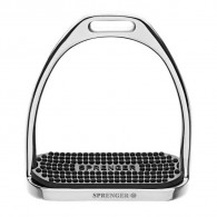 Sprenger FILLIS Stirrups - Stainless Steel With Black Rubber Pad