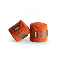 Equestrian Stockholm Fleece Bandages Brick Orange