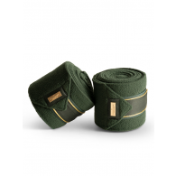 Equestrian Stockholm Fleece Bandages Forest Green