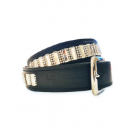 Equestrian Stockholm Belt Contest Black Thin