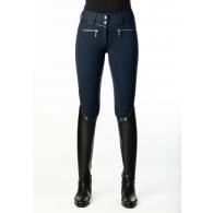 Equestrian Stockholm Riding Breeches Ultimate Dressage Dark Navy Silver