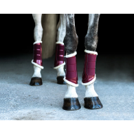 Equestrian Stockholm Brushing Boots Front Bordeaux