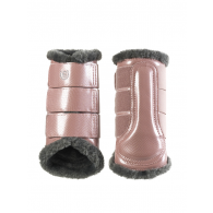 Equestrian Stockholm Brushing Boots Front Pink