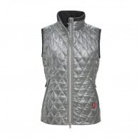 Lulu Quilted Waistcoat - Silver