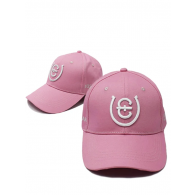 Equestrian Stockholm Cap Pink White Cotton