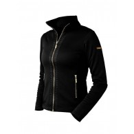 Fleece Jacket Black Gold