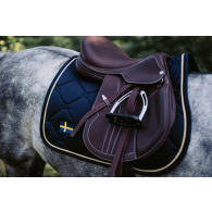 Equestrian Stockholm Jump Saddle Pad Sweden Nation Navy Pony