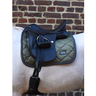 Equestrian Stockholm Dressage Saddle Pad Olive COB