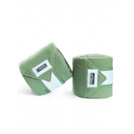 Equestrian Stockholm Fleece Bandages Pistachio White