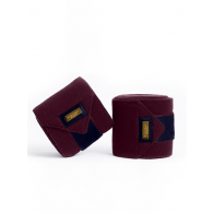 Equestrian Stockholm Fleece Bandages Purple Gold