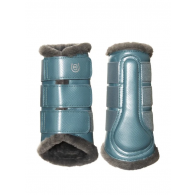 Equestrian Stockholm Brushing Boots Steel Blue