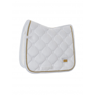 Equestrian Stockholm Dressage Saddle Pad White Perfection Gold COB