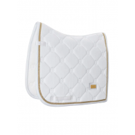 Equestrian Stockholm Dressage Saddle Pad White Perfection Gold