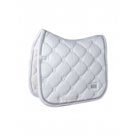 Equestrian Stockholm Dressage Saddle Pad White Perfection Silver COB