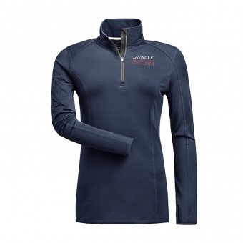 Lotta Zip Baselayer - Dark Blue