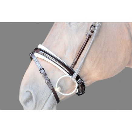 PS of Sweden Noseband Boss, brown / lacquered