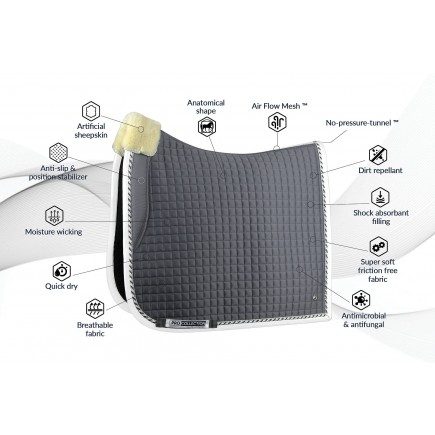 PS of Sweden Dressage saddle pad, Grey, PRO, COB