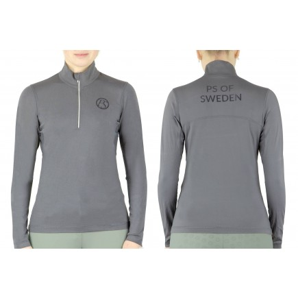 PS of Sweden Poloshirt, Cornelia, Charcoal
