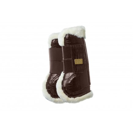 PS of Sweden Brushing boots Jump style, foreleg, lacquered brown