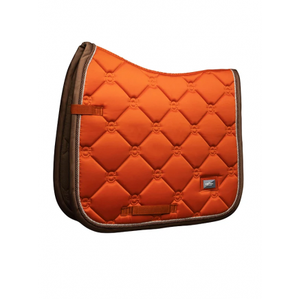 Equestrian Stockholm Dressage Saddle Pad Brick Orange COB