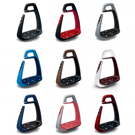 New Soft'Up Classic Stirrups - Silver/Black