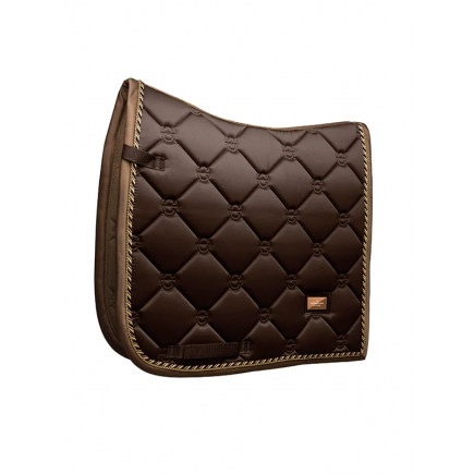 Equestrian Stockholm Dressage Saddle Pad Golden Brown