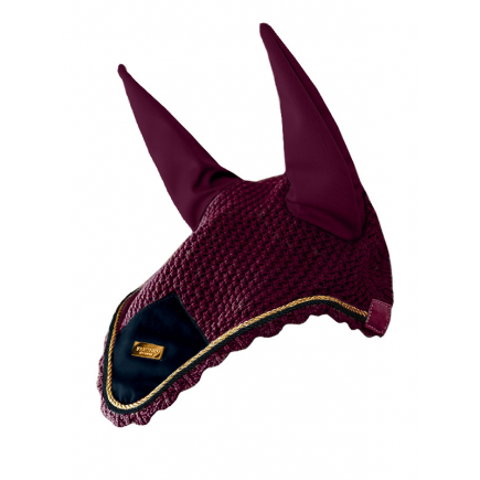 Equestrian Stockholm Ear Net Purple Gold