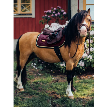 Equestrian Stockholm Jump Saddle Pad Purple Gold Pony