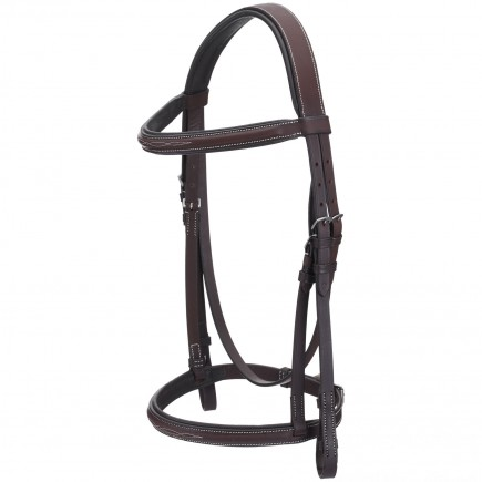 Royal Highness Padded Fancy Stitch Snaffle Bridle