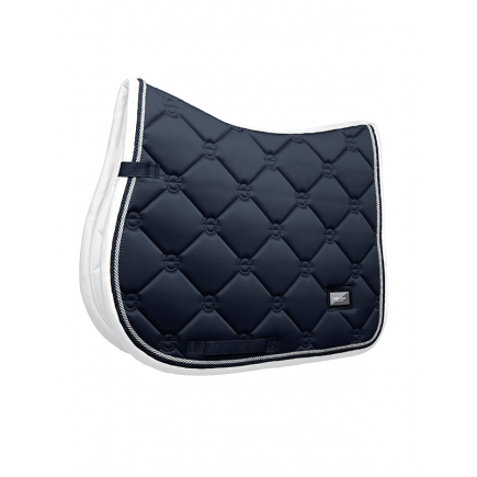 Equestrian Stockholm Jump Saddle Pad Midnight White Edge