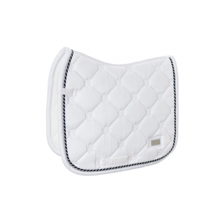 Equestrian Stockholm Dressage Saddle Pad White Perfection COB