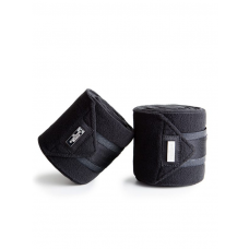 Equestrian Stockholm Fleece Bandages Black Edition