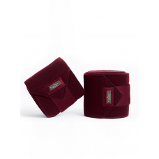 Equestrian Stockholm Fleece Bandages Bordeaux
